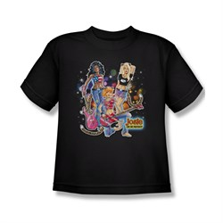 Image of Archie Shirt Kids Pussy Cats Rock Black T-Shirt