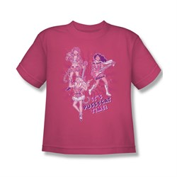Image of Archie Shirt Kids Pussycat Time Hot Pink T-Shirt