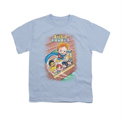 Image of Archie Shirt Kids Rainy Day Light Blue T-Shirt