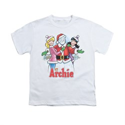 Image of Archie Shirt Kids Snowman Fall White T-Shirt
