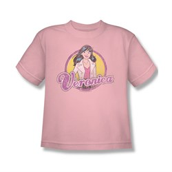 Image of Archie Shirt Kids Veronica Distressed Pink T-Shirt