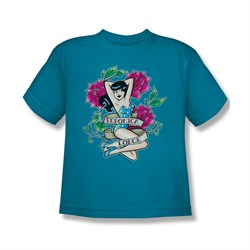 Image of Archie Shirt Kids Veronica Lodge Carolina Blue T-Shirt