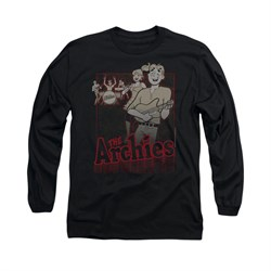 Image of Archie Shirt Performing Long Sleeve Black Tee T-Shirt