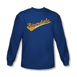 Image of Archie Shirt Riverdale High School Long Sleeve Royal Blue Tee T-Shirt