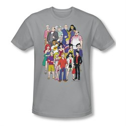 Image of Archie Shirt Slim Fit Cast Silver T-Shirt
