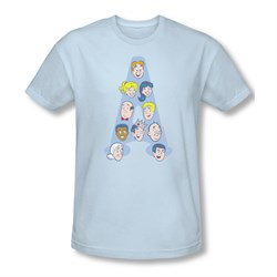 Image of Archie Shirt Slim Fit Character Heads Light Blue T-Shirt