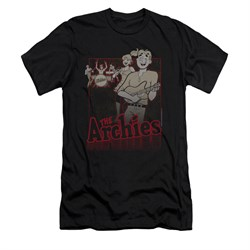 Image of Archie Shirt Slim Fit Performing Black T-Shirt