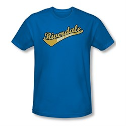 Image of Archie Shirt Slim Fit Riverdale High School Royal Blue T-Shirt