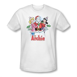 Image of Archie Shirt Slim Fit Snowman Fall White T-Shirt