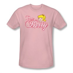 Image of Archie Shirt Slim Fit Team Betty Pink T-Shirt