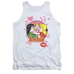 Image of Archie Shirt Tank Top Kisses White Tanktop