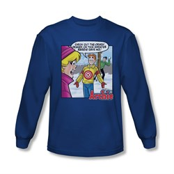 Image of Archie Shirt Target Long Sleeve Royal Blue Tee T-Shirt