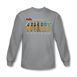 Image of Archie Shirt Timeline Long Sleeve Silver Tee T-Shirt