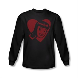 Image of Archie Shirt Veronica Heart Long Sleeve Black Tee T-Shirt