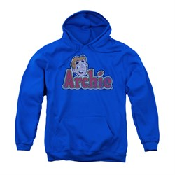 Image of Archie Youth Hoodie Distressed Logo Royal Blue Kids Hoody
