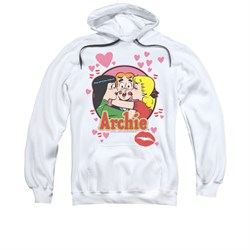 Image of Archie Youth Hoodie Kisses White Kids Hoody