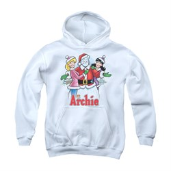 Image of Archie Youth Hoodie Snowman Fall White Kids Hoody
