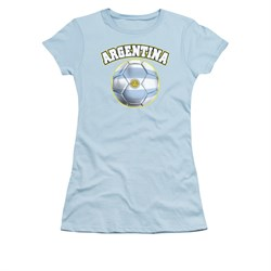 Image of Argentina Soccer Futbol Shirt Juniors Light Blue Tee T-Shirt