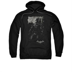 Image of Arkham Knight Hoodie Grey Photo Black Sweatshirt Hoody