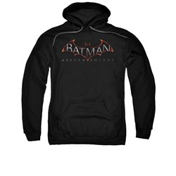 Image of Arkham Knight Hoodie Logo Black Sweatshirt Hoody