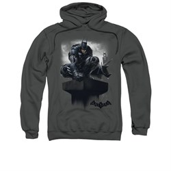 Image of Arkham Knight Hoodie Perched Charcoal Sweatshirt Hoody