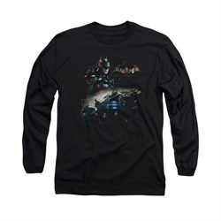 Image of Arkham Knight Shirt Car Long Sleeve Black Tee T-Shirt