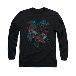 Image of Arkham Knight Shirt City Of Fear Long Sleeve Black Tee T-Shirt
