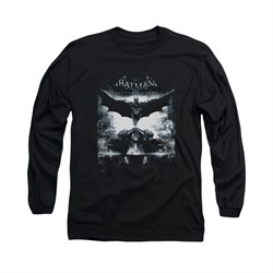 Image of Arkham Knight Shirt Flying Long Sleeve Black Tee T-Shirt