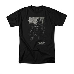 Image of Arkham Knight Shirt Grey Photo Black T-Shirt