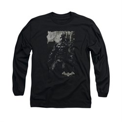Image of Arkham Knight Shirt Grey Photo Long Sleeve Black Tee T-Shirt