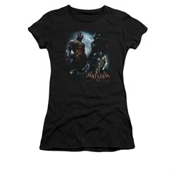 Image of Arkham Knight Shirt Juniors Two Fighters Black T-Shirt