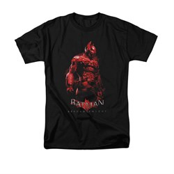 Image of Arkham Knight Shirt Red Suit Black T-Shirt