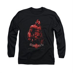 Image of Arkham Knight Shirt Red Suit Long Sleeve Black Tee T-Shirt