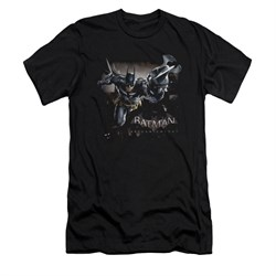 Image of Arkham Knight Shirt Slim Fit Grapple Gun Black T-Shirt