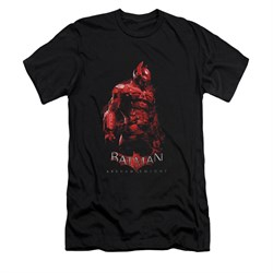 Image of Arkham Knight Shirt Slim Fit Red Suit Black T-Shirt