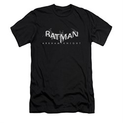Image of Arkham Knight Shirt Slim Fit Splintered Logo Black T-Shirt