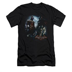 Image of Arkham Knight Shirt Slim Fit Two Fighters Black T-Shirt