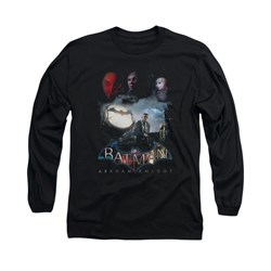Image of Arkham Knight Shirt Spot Light Long Sleeve Black Tee T-Shirt