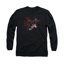 Image of Arkham Knight Shirt W Tech Long Sleeve Black Tee T-Shirt