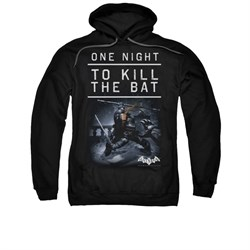 Image of Arkham Origins Hoodie Kill The Bat Black Sweatshirt Hoody