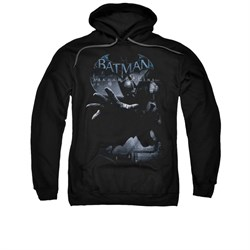 Image of Arkham Origins Hoodie Out Of The Shadows Black Sweatshirt Hoody