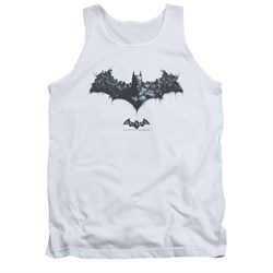 Image of Arkham Origins Shirt Tank Top Logo Of Enemies White Tanktop