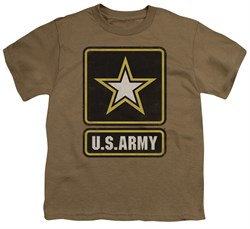 Image of Army Kids Shirt Big Logo Safari Green T-Shirt