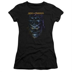 Image of Army Of Darkness Juniors Shirt Evil Ash Black T-Shirt