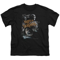 Image of Army Of Darkness Kids Shirt Covered Black T-Shirt