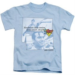Image of Army Of Darkness Kids Shirt Shop S Mart Light Blue T-Shirt