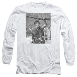 Image of Army Of Darkness Long Sleeve Shirt Boom White Tee T-Shirt