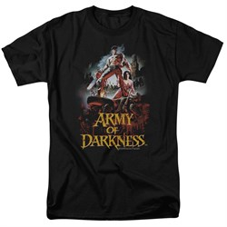 Image of Army Of Darkness Shirt Bloody Poster Black T-Shirt
