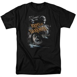 Image of Army Of Darkness Shirt Covered Black T-Shirt