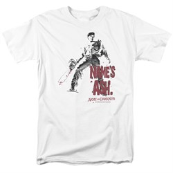 Image of Army Of Darkness Shirt Name's Ash White T-Shirt
